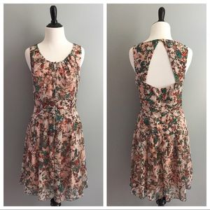 Jessica Simpson floral open back dress